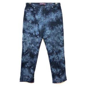 Gloria Vanderbilt Amanda Blue Print Jeans 14